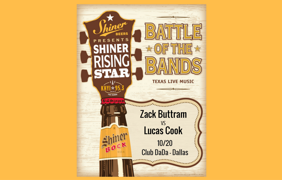 SHINER RISING STAR ROUND 2: Zack Buttram vs Lucas Cook